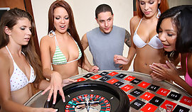 Slinky skinny bitches are playing poker looking entirely sensuous